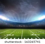 light of stadium  | Shutterstock . vector #163265741