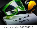 health and safety register with ... | Shutterstock . vector #163268015
