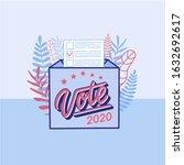 vote 2020 in usa  banner design.... | Shutterstock .eps vector #1632692617
