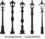 city street lantern set | Shutterstock .eps vector #163269365