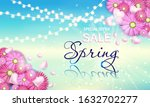 sale spring  banner with...   Shutterstock .eps vector #1632702277