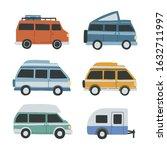 set of differnet campervans... | Shutterstock .eps vector #1632711997