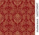 seamless floral pattern. gold...   Shutterstock .eps vector #1632734047