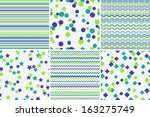 christmas seamless patterns | Shutterstock .eps vector #163275749