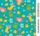 spring seamless pattern. bright ... | Shutterstock .eps vector #1632801631