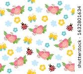 spring seamless pattern. bright ... | Shutterstock .eps vector #1632801634