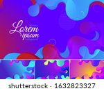 colorful geometric wavy...   Shutterstock .eps vector #1632823327