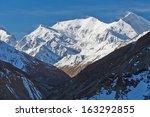 Trekking around the Annapurna. Himalayas, Nepal - stock photo