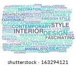 interior design. word cloud... | Shutterstock .eps vector #163294121