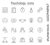 psychology icon set in thin... | Shutterstock .eps vector #1632948967