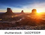 monument valley at sunrise | Shutterstock . vector #163295009