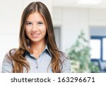 charming businesswoman portrait | Shutterstock . vector #163296671