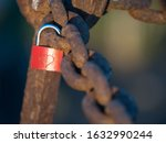 A Red Padlock Has A Heart...
