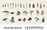 set of silhouettes of... | Shutterstock .eps vector #1633009504