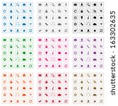 square web icons. vector... | Shutterstock . vector #163302635