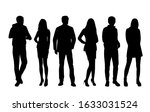 vector silhouettes of  men and... | Shutterstock .eps vector #1633031524