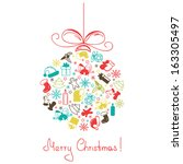 christmas ball made of a... | Shutterstock . vector #163305497