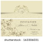 wedding invitation cards... | Shutterstock .eps vector #163306031