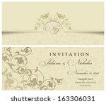 wedding invitation cards... | Shutterstock .eps vector #163306031