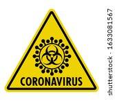 coronavirus sign. yellow...   Shutterstock .eps vector #1633081567