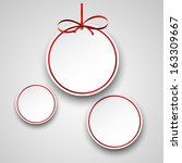 holiday paper round labels.... | Shutterstock .eps vector #163309667