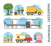 apple juice production steps... | Shutterstock .eps vector #1633109044