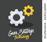 setting or gear icon vector...