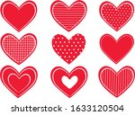 set of different hearts on... | Shutterstock .eps vector #1633120504