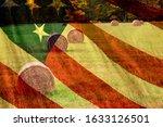 Abstract Us Flag Image Overlaid ...