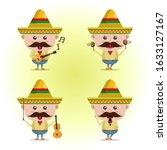 Mexican Cartoon Character Set....