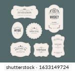 vintage ornament frame design... | Shutterstock .eps vector #1633149724