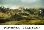 Roadview on mountains in Iceland.