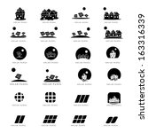 solar panel icons set  ... | Shutterstock .eps vector #163316339