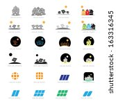 Solar Panel Icons Set - Isolated On White Background - Vector Illustration, Graphic Design Editable For Your Design