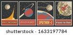 retro soviet space propaganda... | Shutterstock .eps vector #1633197784