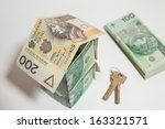 the concept of building a house ... | Shutterstock . vector #163321571