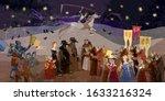 terrible doctors. medieval... | Shutterstock .eps vector #1633216324