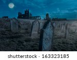 Whitby Abbey  Yorkshire  Uk....