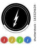 electricity button retro colors | Shutterstock .eps vector #163324634