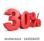 3d red snowy discount... | Shutterstock . vector #163326635