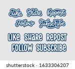 social media slogans stickers...   Shutterstock .eps vector #1633306207