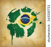 soccer poster template   ... | Shutterstock .eps vector #163330721
