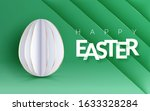 easter holiday flyer with... | Shutterstock .eps vector #1633328284