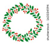 christmas wreath with place for ... | Shutterstock .eps vector #163334594