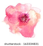 single pink and orange... | Shutterstock . vector #163334831