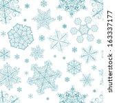christmas seamless pattern from ... | Shutterstock .eps vector #163337177