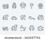 auto service icons | Shutterstock .eps vector #163337741