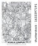 city map kuala lumpur  travel... | Shutterstock .eps vector #1633397191