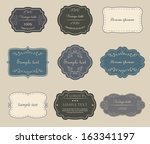 set of vector vintage labels. | Shutterstock .eps vector #163341197