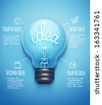 creative design template with... | Shutterstock .eps vector #163341761